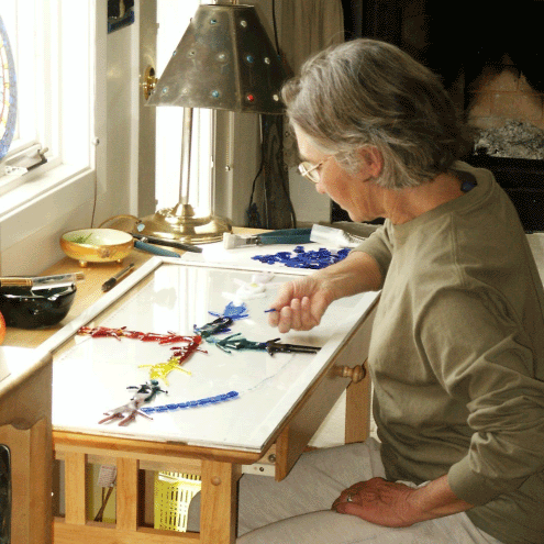 Theresa in her studio.